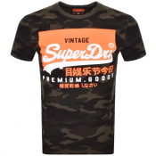 Product Image for Superdry Camouflage Short Sleeved T Shirt Green