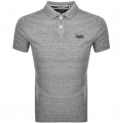 Product Image for Superdry Classic Polo T Shirt Grey