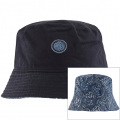 Pretty Green Reversible Paisley Bucket Hat Navy