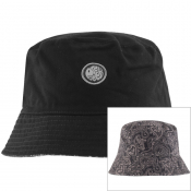 Pretty Green Reversible Paisley Bucket Hat Black