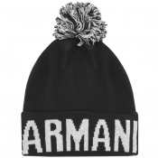 Armani Exchange Logo Beanie Hat Navy