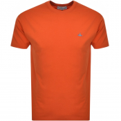 Vivienne Westwood Small Orb Logo T Shirt Orange