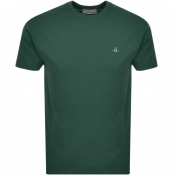 Product Image for Vivienne Westwood Small Orb Logo T Shirt Green