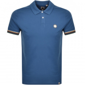 Pretty Green Tipped Polo T Shirt Blue