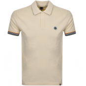Pretty Green Tipped Polo T Shirt Beige