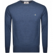Vivienne Westwood Crew Neck Knit Jumper Blue