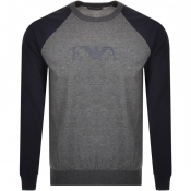 Product Image for Emporio Armani Lounge Logo Sweatshirt Grey