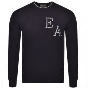 Product Image for Emporio Armani Crew Neck Knit Jumper Navy