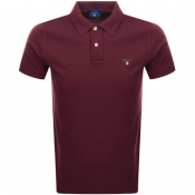 Gant Oxford Pique Rugger Polo T Shirt Red