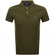 Gant Oxford Pique Rugger Polo T Shirt Green