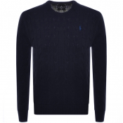 Product Image for Ralph Lauren Cable Knit Jumper Navy