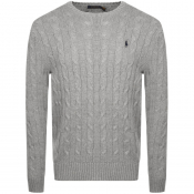 Ralph Lauren Cable Knit Jumper Grey