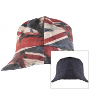 Pretty Green Reversible Union Jack Bucket Hat Navy