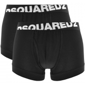 DSQUARED2 Underwear 2 Pack Trunks Black