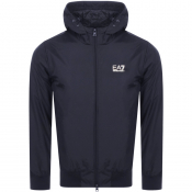 EA7 Emporio Armani Hooded Logo Jacket Navy