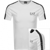 EA7 Emporio Armani Taped Logo T Shirt White