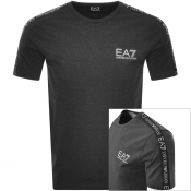 EA7 Emporio Armani Taped Logo T Shirt Grey