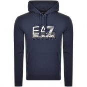 Product Image for EA7 Emporio Armani Visibility Logo Hoodie Navy