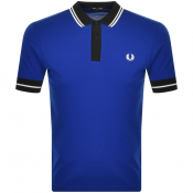 Fred Perry Contrast Trim Tipped Polo T Shirt Blue