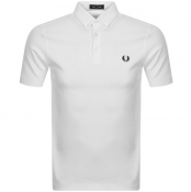 Fred Perry Button Down Polo T Shirt White