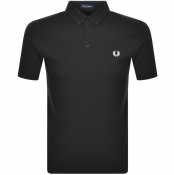 Product Image for Fred Perry Button Down Polo T Shirt Black