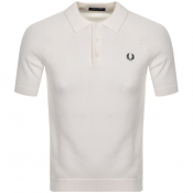 Product Image for Fred Perry Textured Knit Polo T Shirt White