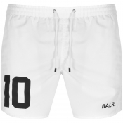 Product Image for BALR 10 Logo Swim Shorts White