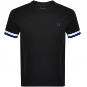 Fred Perry Bold Tipped T Shirt Black