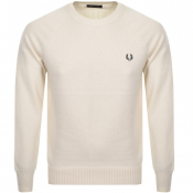 Fred Perry Crew Neck Knit Jumper Cream