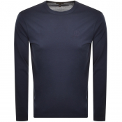 Product Image for Belstaff Long Sleeved Logo T Shirt Navy