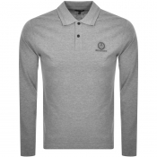 Product Image for Belstaff Long Sleeved Sleeved Polo T Shirt Grey