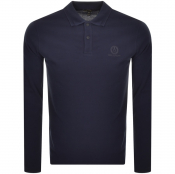 Product Image for Belstaff Long Sleeved Sleeved Polo T Shirt Navy
