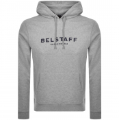 Product Image for Belstaff Pullover Logo Hoodie Grey