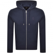 Product Image for Belstaff Full Zip Logo Hoodie Navy