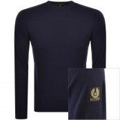 Product Image for Belstaff Moss Crew Neck Knit Jumper Navy