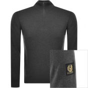 Belstaff Bay Half Zip Knit Jumper Grey