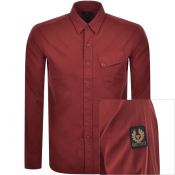 Product Image for Belstaff Long Sleeved Pitch Shirt Red