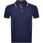 Ralph Lauren Custom Slim Fit Polo T Shirt Navy
