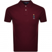 Product Image for Ralph Lauren Bear Polo T Shirt Burgundy