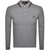 Product Image for Ralph Lauren Long Sleeved Polo T Shirt Grey