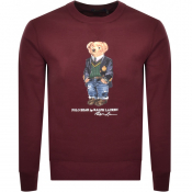 Ralph Lauren Crew Neck Bear Sweatshirt Burgundy