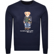 Ralph Lauren Crew Neck Bear Sweatshirt Navy