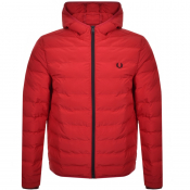 Fred Perry Padded Hood Jacket Red