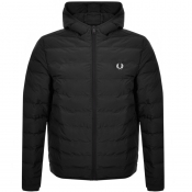 Fred Perry Padded Hood Jacket Black