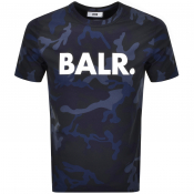 Product Image for BALR Camouflage Logo T Shirt Navy