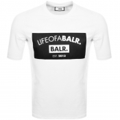 BALR Life Of A Balr Club Logo T Shirt White