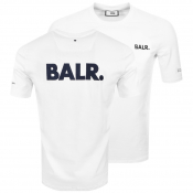 BALR Black Label Navy Logo T Shirt White