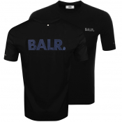 BALR Black Label Navy Logo T Shirt Black