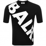 BALR Tilted Logo T Shirt Black