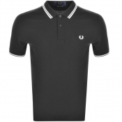 Fred Perry Made In Japan Tipped Polo T Shirt Grey